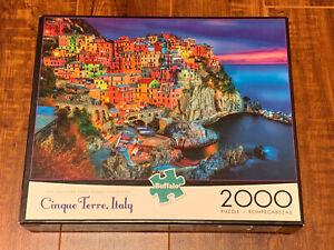 2000 Pieces 38 x 26 Puzzle Cinque Terre Italy Used