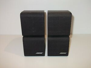 2 x BOSE BLACK DOUBLE CUBE ACOUSTIMASS 5, 10, 15, LIFESTYLE 18