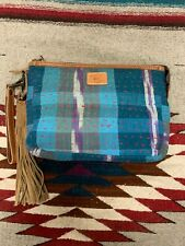 Will Leather Goods Large Kantha Zip Pouch NWT
