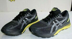 ASICS Gel-Nimbus 21 Lightweight Running Men's Shoes, Black / Lemon, US Size 12 W
