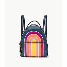 FOSSIL Felicity Leather Mini Backpack Rainbow Sunshine NEW