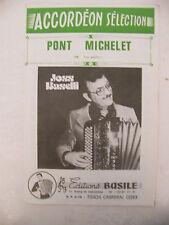 Partition Pont Michelet de Joss Baselli