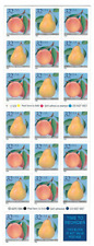 Scott # 2487/8...32 Cent...Peaches & Pears...Unfolded Booklet of 20 Stamps
