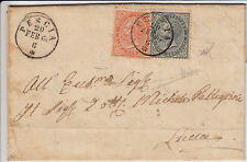 DE LA RUE-5c+10c(16+17)-Lettera Pescia->Lucca 20.2.1864-Firm.Sorani