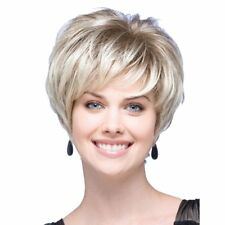 Blonde High Temperature Fiber Synthetic Wigs Women Natural Short Wig a