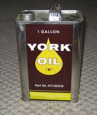 "York ""B"" Refrigeration Semi-Synthetic Mineral Compressor Oil 1-Gallon Can"