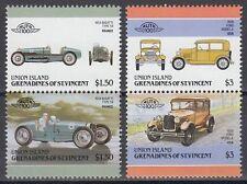 St. Vincent Grenadines Union 1986 ** Mi.184/87 Automobile Autos Cars [sq6474]