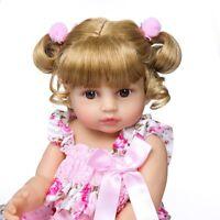 55cm  Doll Reborn Toddler Girl Baby Full Body Silicone Vinyl Kids Accompany Doll