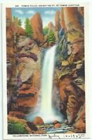 Tower Falls at Tower Junction Yellowstone National Park Vintage Postcard