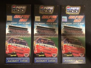 1998 Pepsi 400 At Daytona Qualifying Night Lot Of 3 Ticket Stub NASCAR Race