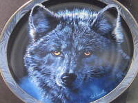 Hamilton 1995 Wilderness Spirit MOON SHADOWS  Wolf  Ltd Ed Plate