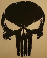 Punisher Skull US Car schwarz matt