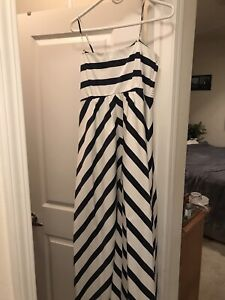 Jessica Simpson Maternity Maxi Dress- Striped- Lined