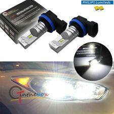 2PCS Pure White High Power Philips Luxen H11 H8 LED Replacement Bulbs Fog Lights