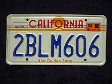 CALIFORNIA - The Golden State - USA Auto Kennzeichen - Original - Top! 2BLM606
