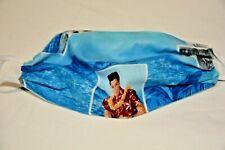 Blue Elvis Hawaii print handmade cotton face mask reversible