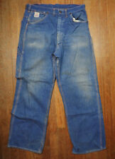 Vintage Men's Red Camel Sanforized Denim Jeans / Pants Distressed repaired 34x30