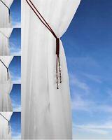 Crystal Beaded Tie Backs Tsar Cord Curtain Tieback Voile Hold Backs All Colours