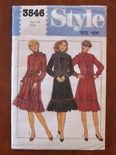 STYLE PATTERN - 3546 LADIES PULLOVER DRESS RUFFLE QUILTED VEST SIZE 14 UNCUT