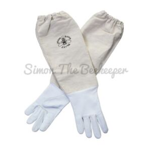 Beekeepers White Leather Gloves-All Sizes