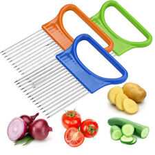 2017 Tomato Guide Onion Holder Vegetable Slicer Cutter Aid Slicing Cutting Fork