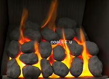 OLD STOCK! Replacement Small Round Gas Fire  Coals SALE!! 20