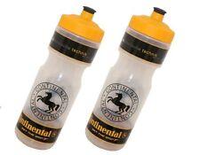 2 Stück continental Trinkflasche 800 ml Sportflasche Rauch schwarz durchsichtig