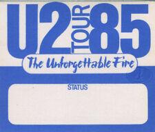 U2 1985 Unforgettable Fire Backstage Pass Blue