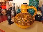 Retro 1960's fat lava vase, vintage Ceramano West German Bitossi era pottery pot