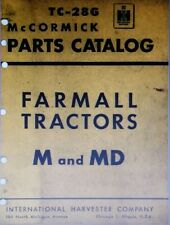 Farmall International Harvester M MD Tractor Parts Manual 440pg McCormick TC-28G