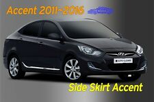 Chrome Side Skirt Accent Garnish Molding Silver B755 for Hyundai ACCENT 2011~ 16