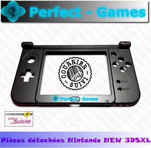 NINTENDO NEW 3DS XL Coque bas screen bottom middle housing shell noir black