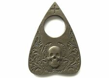 Planchette with Skull design in Antique Bronze Finish, For Use With Ouija Board