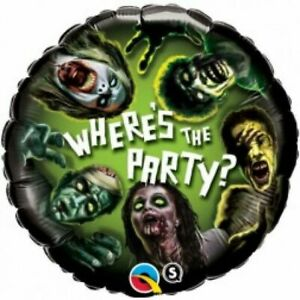 Halloween Party Supplies Where's the Party Zombie Foil Balloon (18 inch / 45cm)
