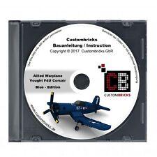 CB Bauanleitung WW2 WWII Warplane Vought F4u Corsair BLUE MOC für LEGO® Steine