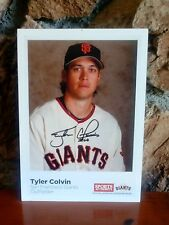Tyler Colvin SFO GIANTS Autographed Sports Authority picture