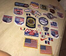 Baseball Football Hockey Patch Patches Lot Huge Budweiser Flag American