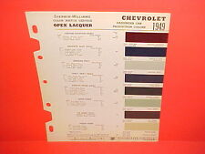 1949 CHEVROLET FLEETLINE STYLELINE CONVERTIBLE SPECIAL DELUXE COUPE PAINT CHIPS