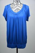 JM Collection Blouson T-shirt Blue Size Large L