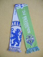 2009 CHELSEA FC vs SEATTLE SOUNDERS FC Football Match MLS SOCCER SCARF Friendly