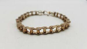 925 Silver Bike Chain Bracelet 0026