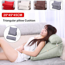 45cm Wedge Back Pillow Rest Sleep Neck Home Sofa Bed Lumbar Office Cushion USA