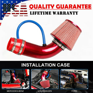 Red Cold Air Intake System Kit+Heat Shield For 99-06 GMC Chevy V8 4.8L 5.3L 6.0L