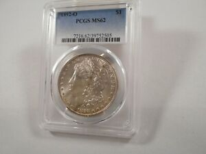 1892-O Morgan Silver Dollar PCGS MS 62, some light toning / color, Better Date