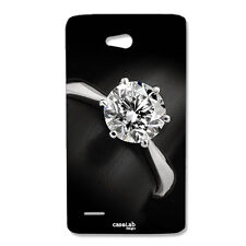 CUSTODIA COVER CASE ANELLO DIAMANTE PREZIOSO PER LG L80 D373EU
