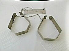 Vintage baby blanket clasps - silver plate with chain 1960's