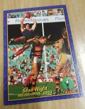 SEAN WIGHT HAND SIGNED CAZALY CLASSICS CARD MELBOURNE DEMONS