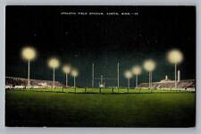 Austin Minnesota MN Football Field High School Junior College Postcard 1930-45