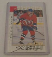 SAKU KOIVU - 1998 BE A PLAYER PINNACLE - AUTOGRAPH - CANADIENS -