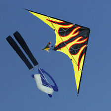 New 1.6m 63-In Dual Line Flame Stunt Kite Outdoor fun Sport Toys for Beginner